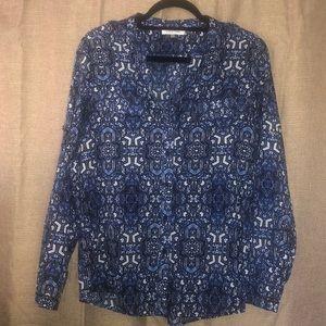 Calvin Klein button-down blouse
